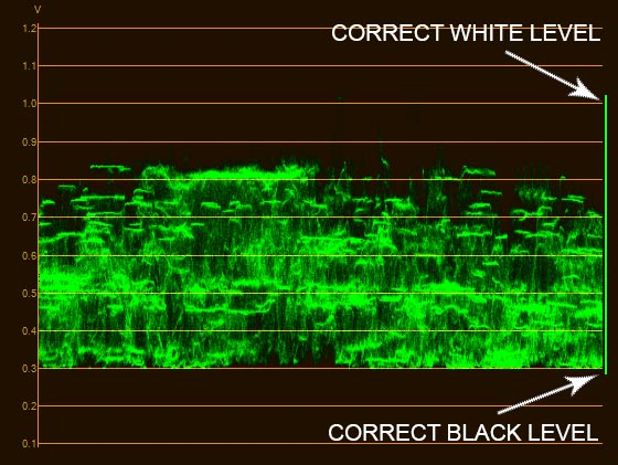 Waveform with correct levels