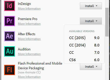 Adobe Cloud App CS6 download