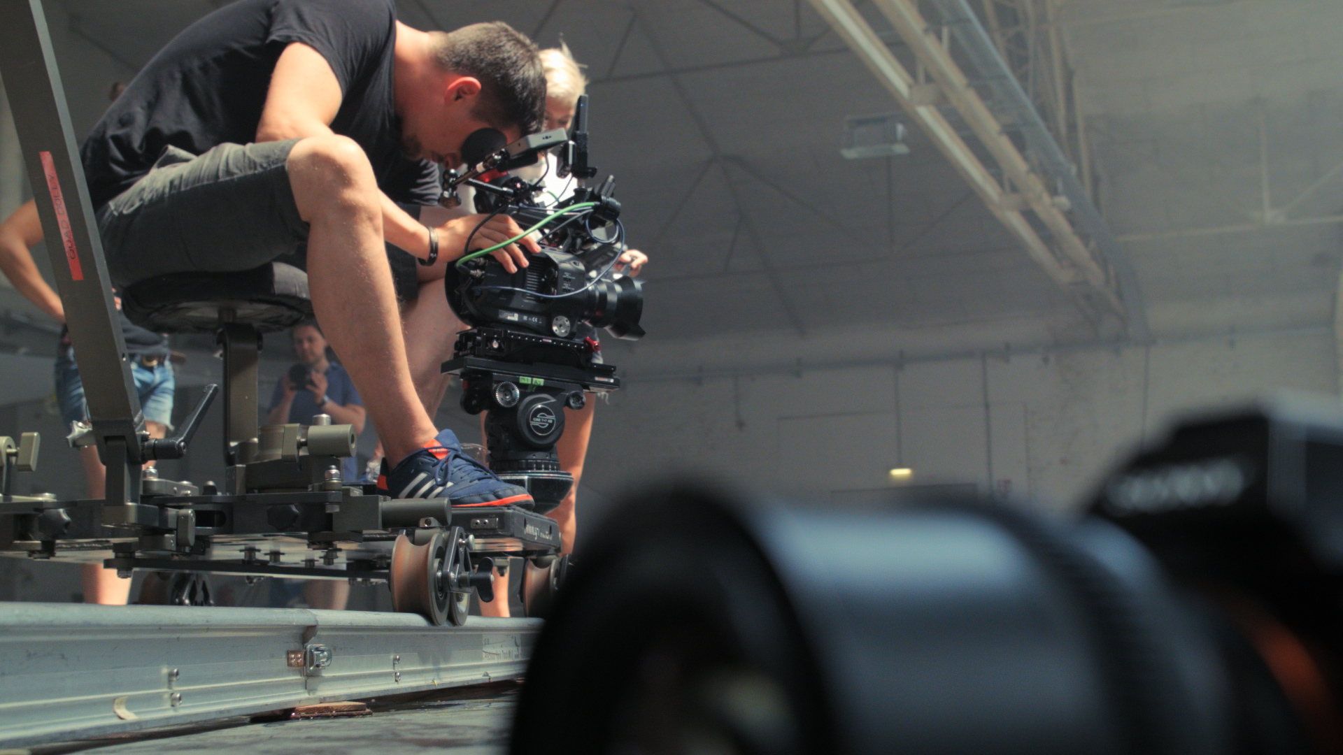 Nino with the Sony FS7 on the Dolly