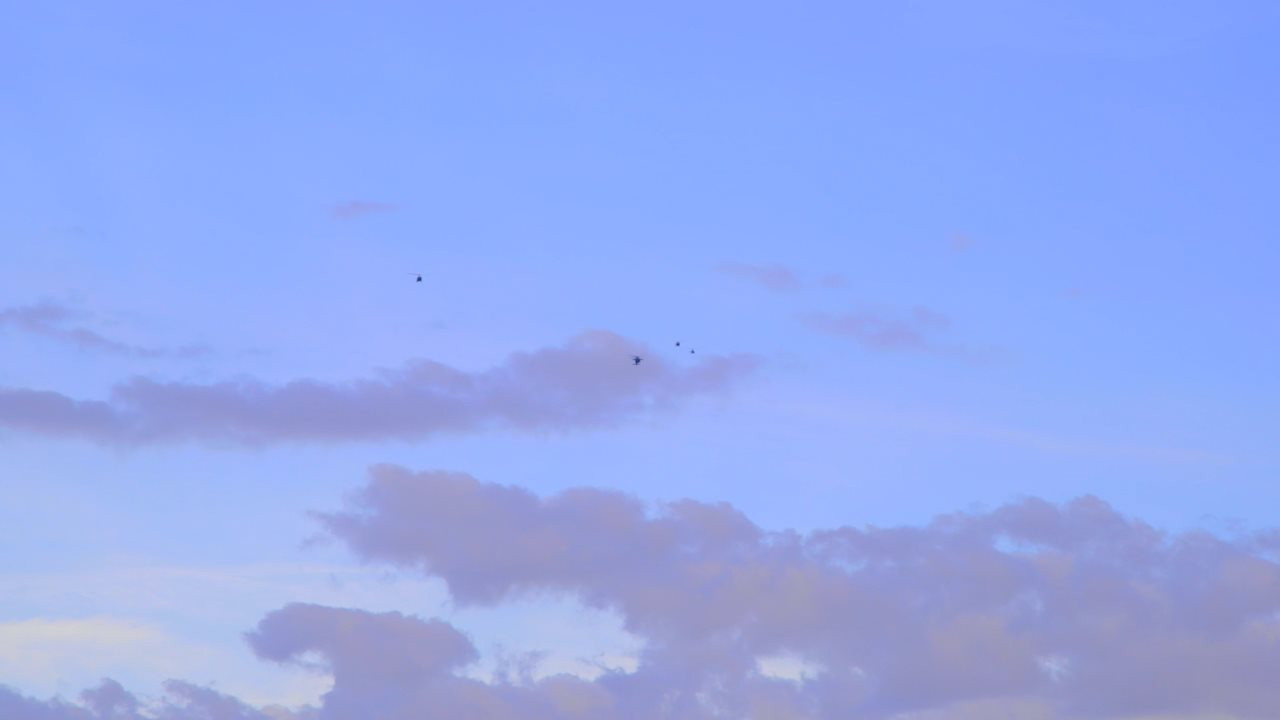 Copters Flying Distant 001