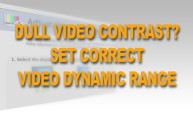 Full Video Dynamic Range for Youtube and Vimeo