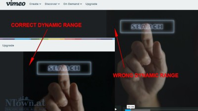 Visible differences in Vimeo and Youtube video players