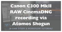 Atomos Shogun CinemaDNG RAW via Canon C300 Mark II Review