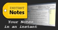 InstantNotes – the end of text note chaos