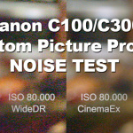 Canon C100/C300 Custom Picture Profile Noise Comparison