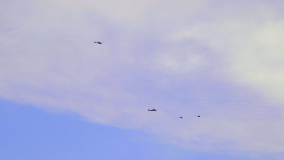 Copters Flying Distant 002
