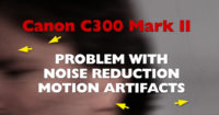 Canon C300 Mark II / C700 Noise Reduction Motion Artifacts Problem