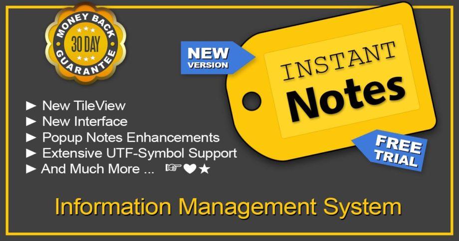 InstantNotes Information Management System